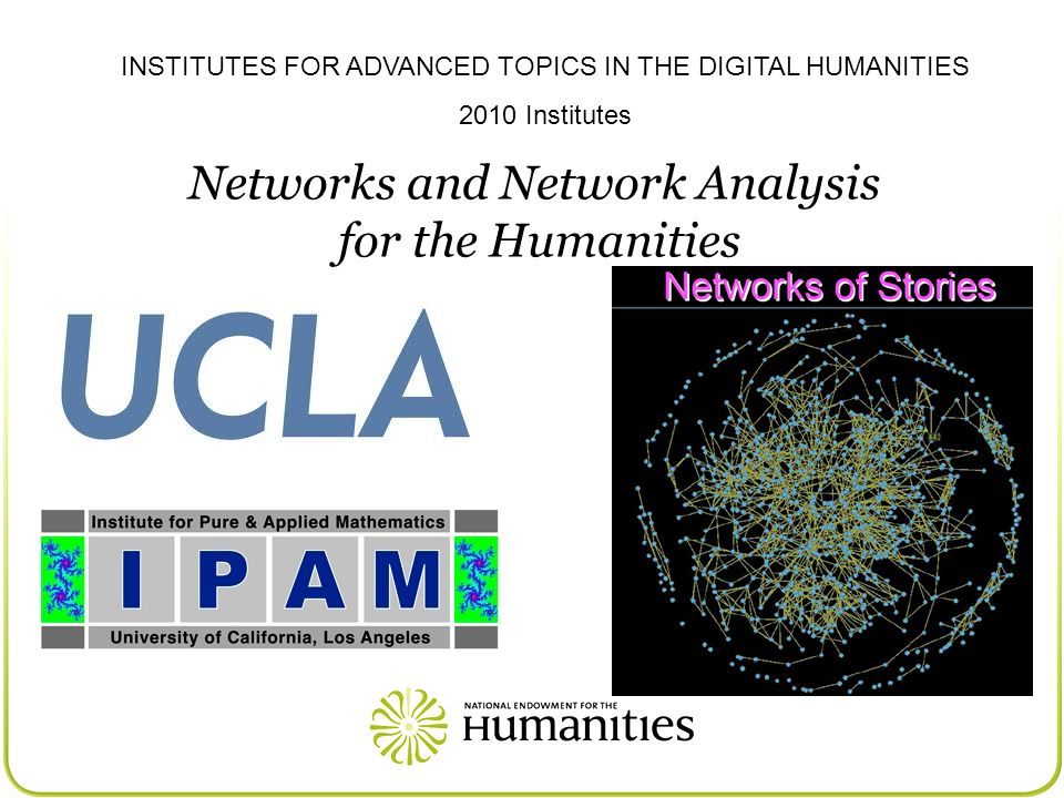 Networks and Network Analysis for the Humanities