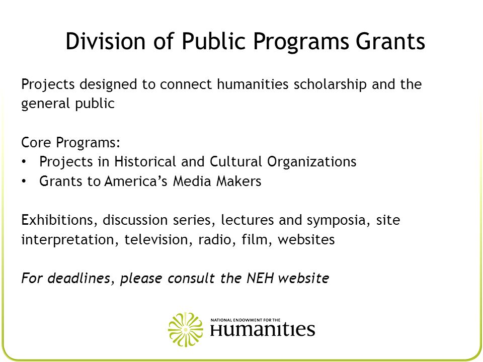Division of Public Programs Grants