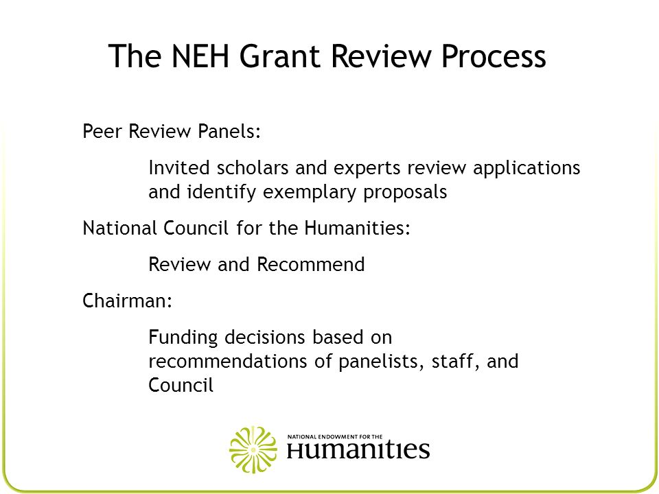 The NEH Grant Review Process