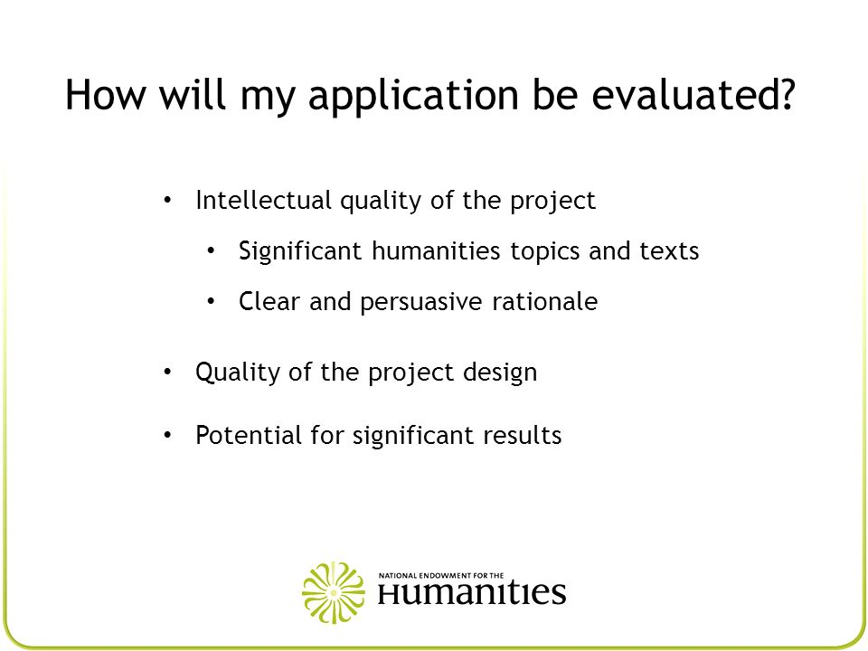 How will my application be evaluated