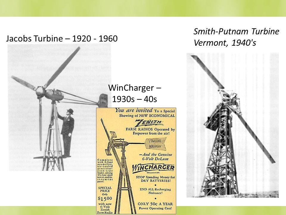 Smith-Putnam Turbine Vermont, 1940 s