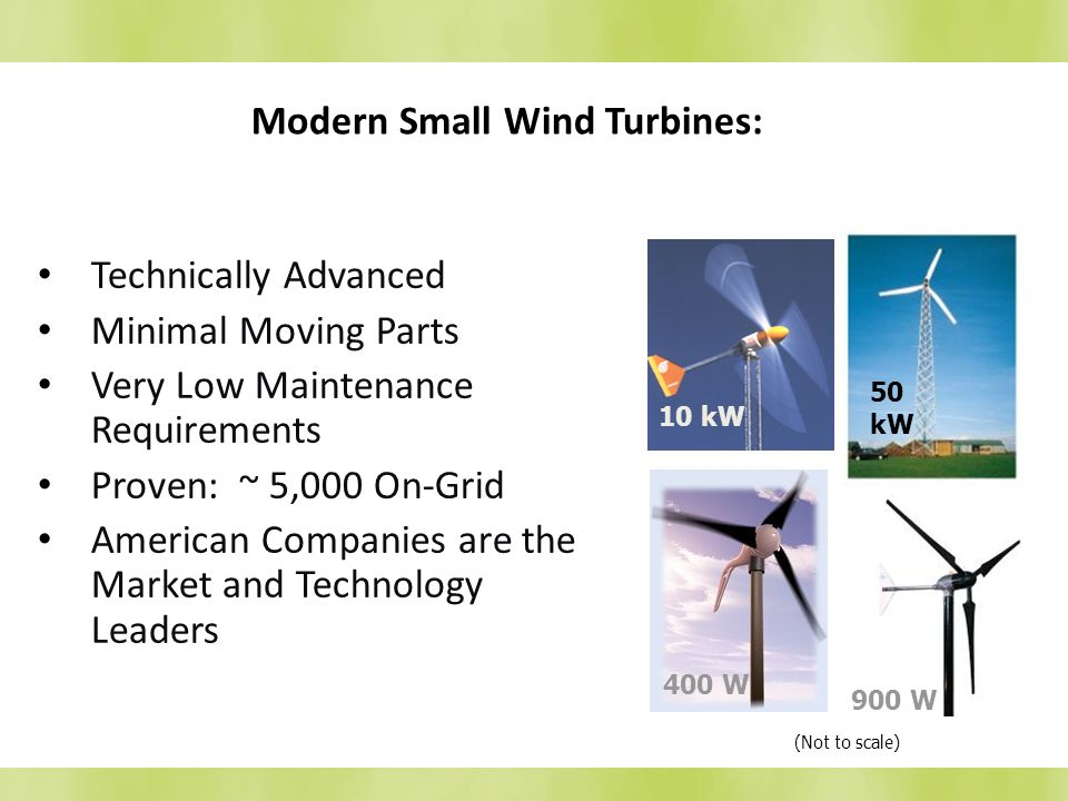 Modern Small Wind Turbines: