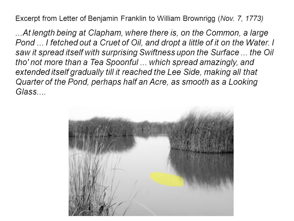 Excerpt from Letter of Benjamin Franklin to William Brownrigg (Nov