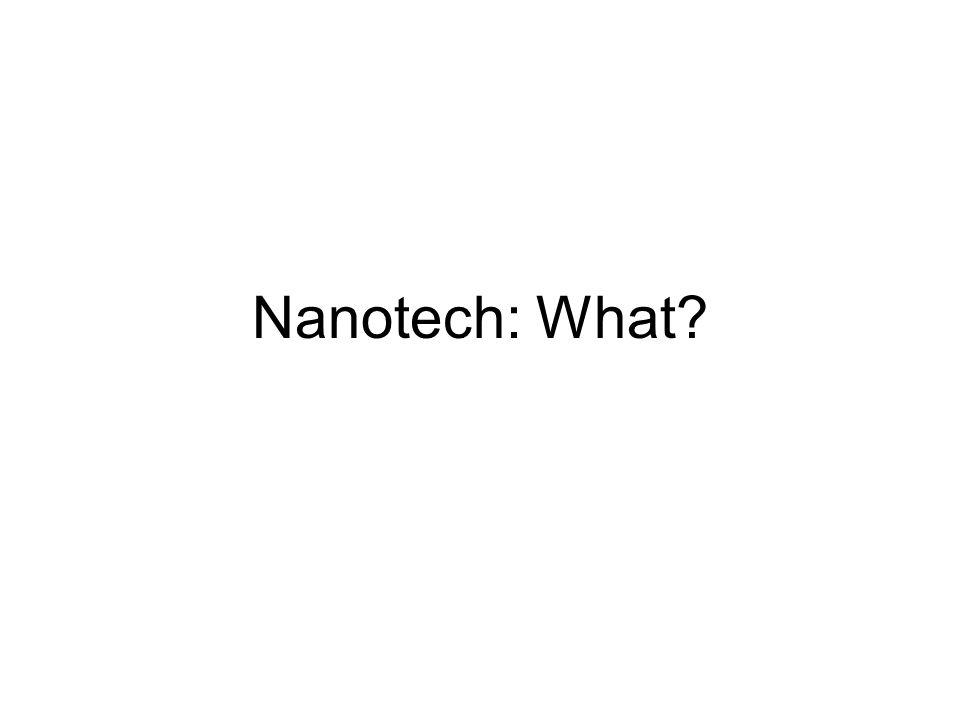Nanotech: What