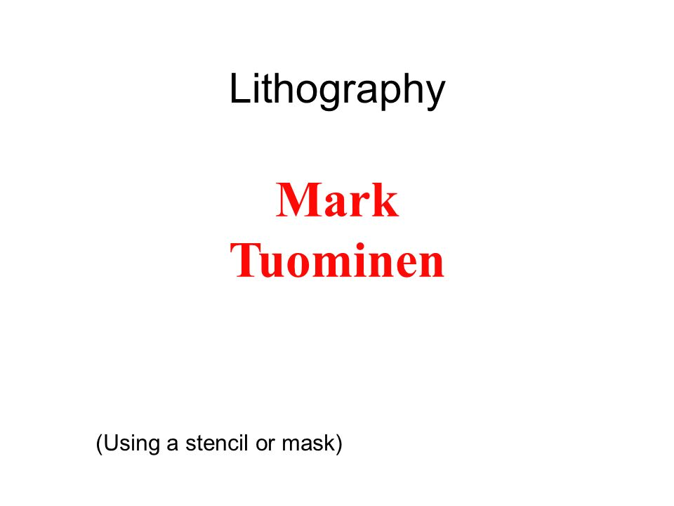 Mark Tuominen Mark Tuominen