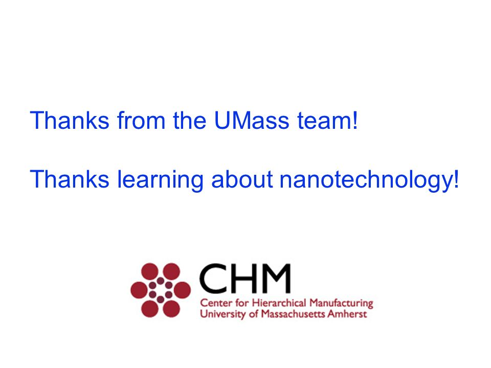 Thanks from the UMass team!