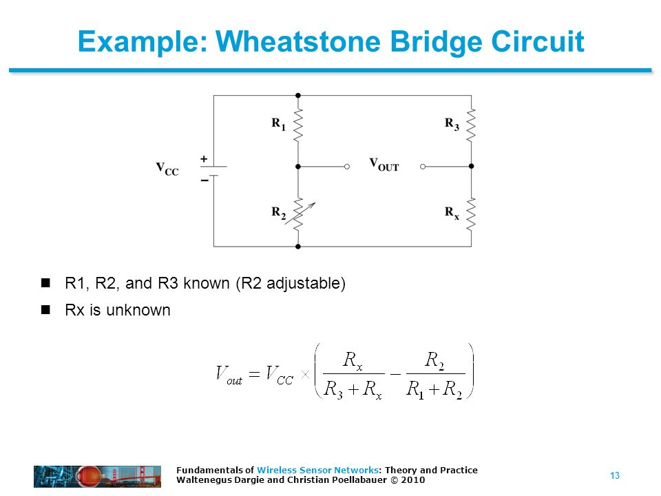 Example: Wheatstone Bridge Circuit