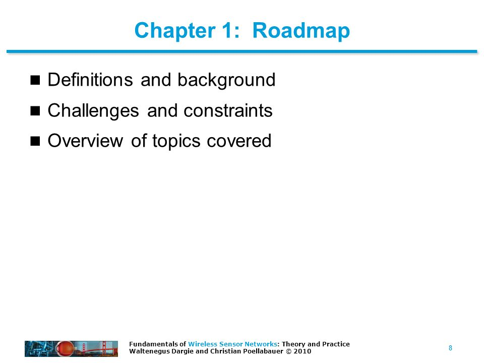 Chapter 1: Roadmap Definitions and background