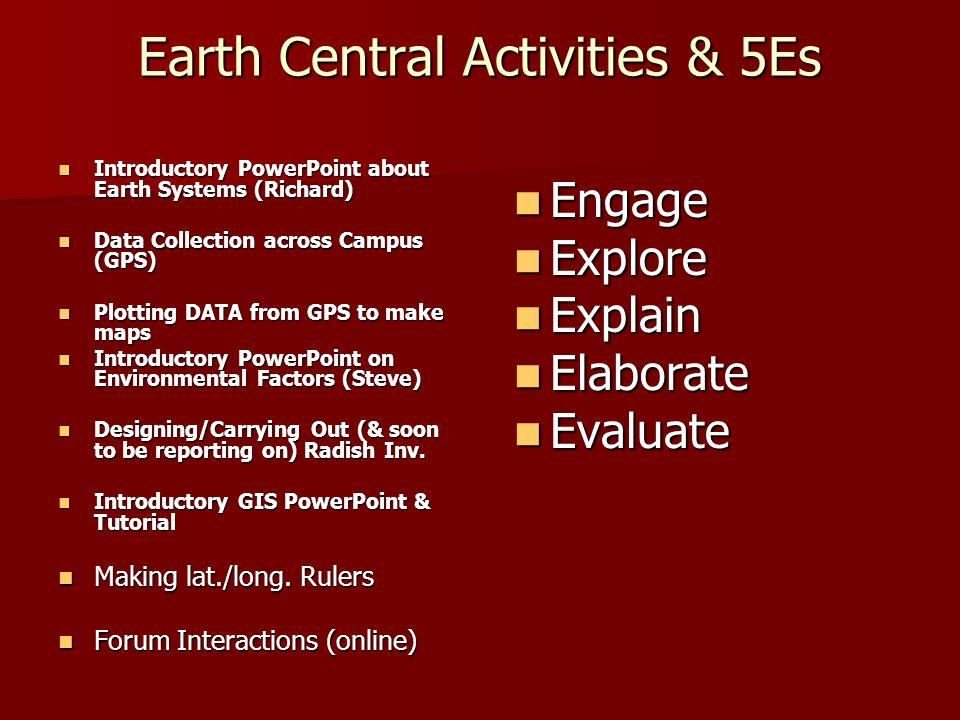 Earth Central Activities & 5Es