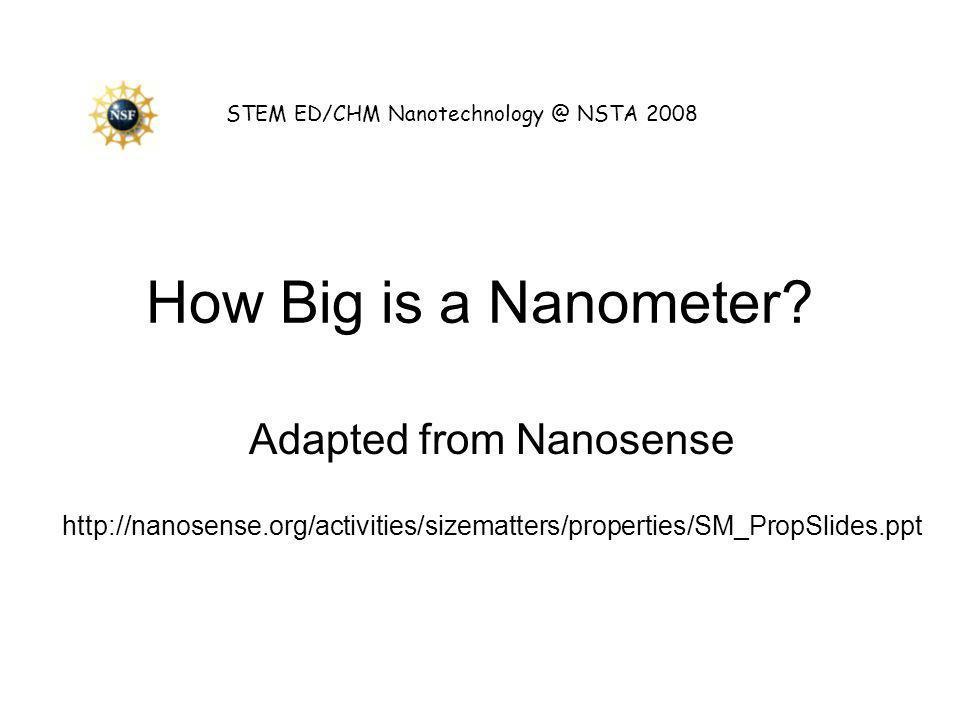 Adapted from Nanosense