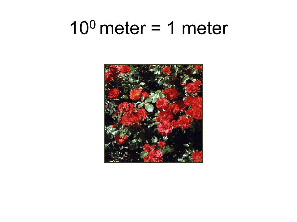 100 meter = 1 meter