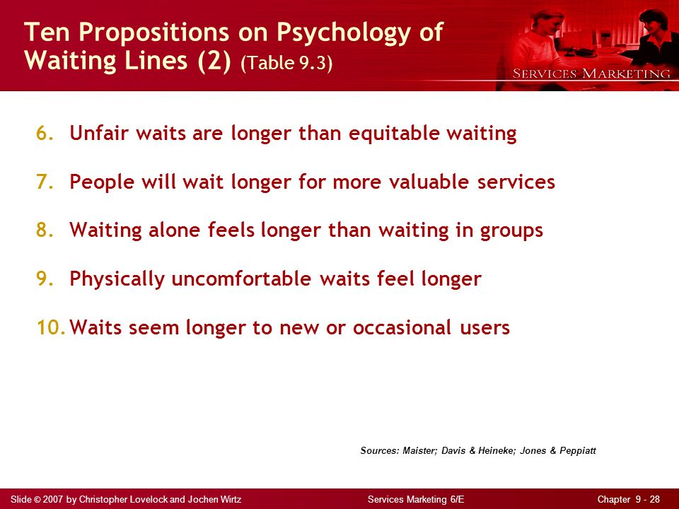 the psychology of waiting lines The negative effects associated with wait times and how it impacts customer satisfaction.