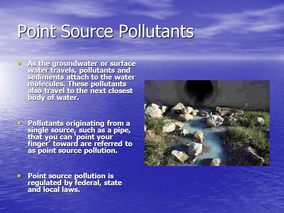 Point Source Pollutants