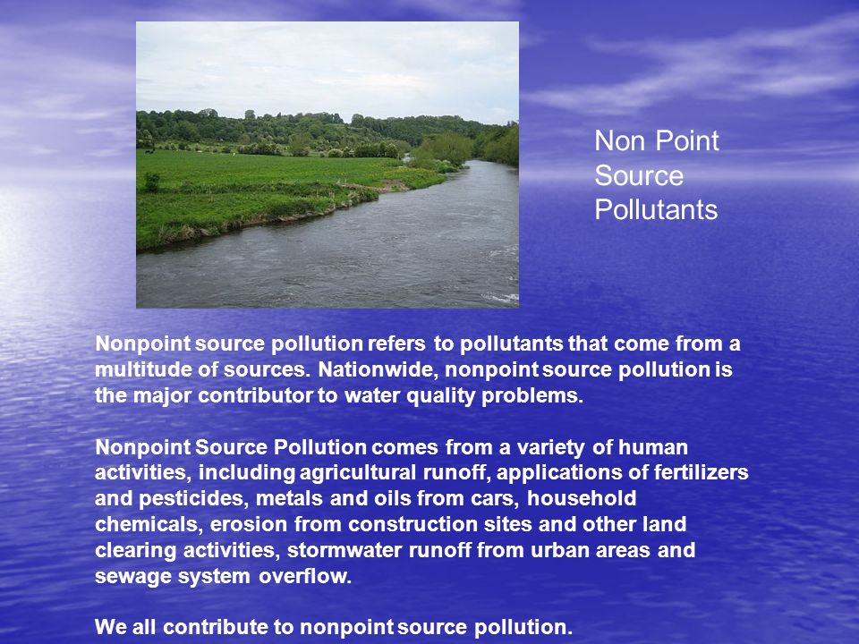 Non Point Source Pollutants