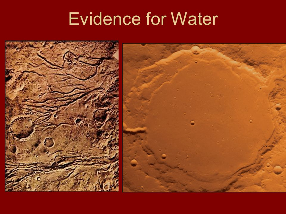 Evidence for Water