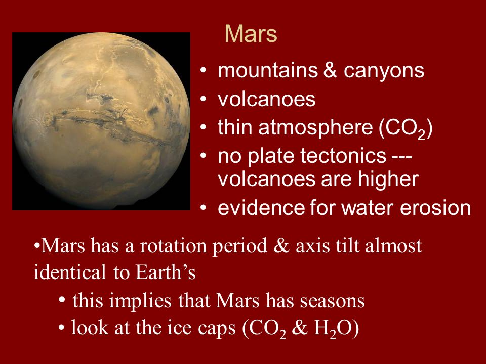 this implies that Mars has seasons