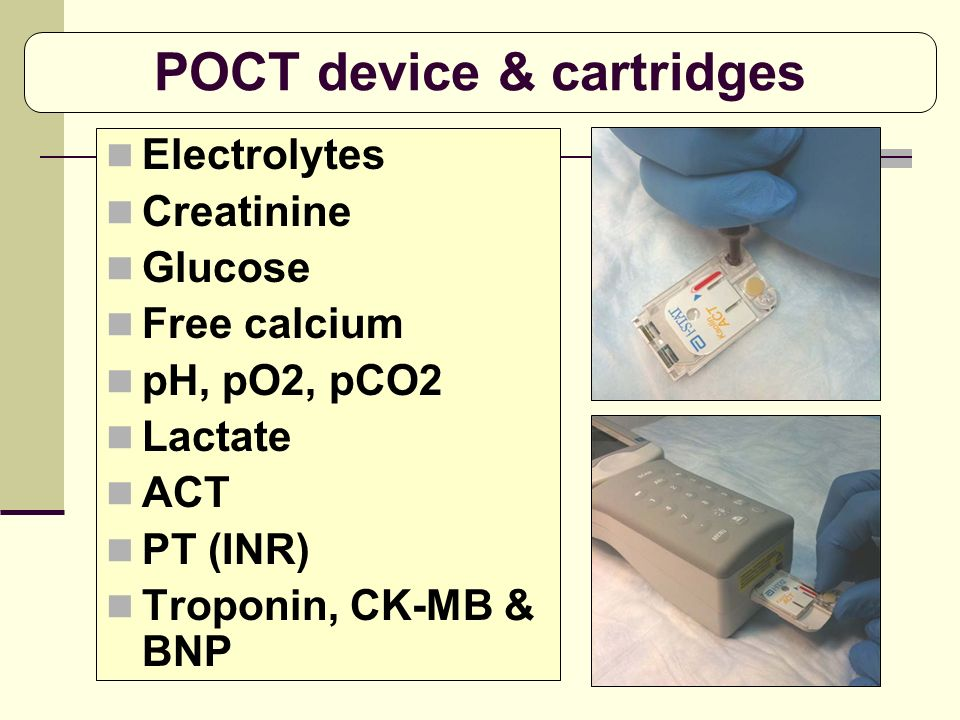POCT device & cartridges
