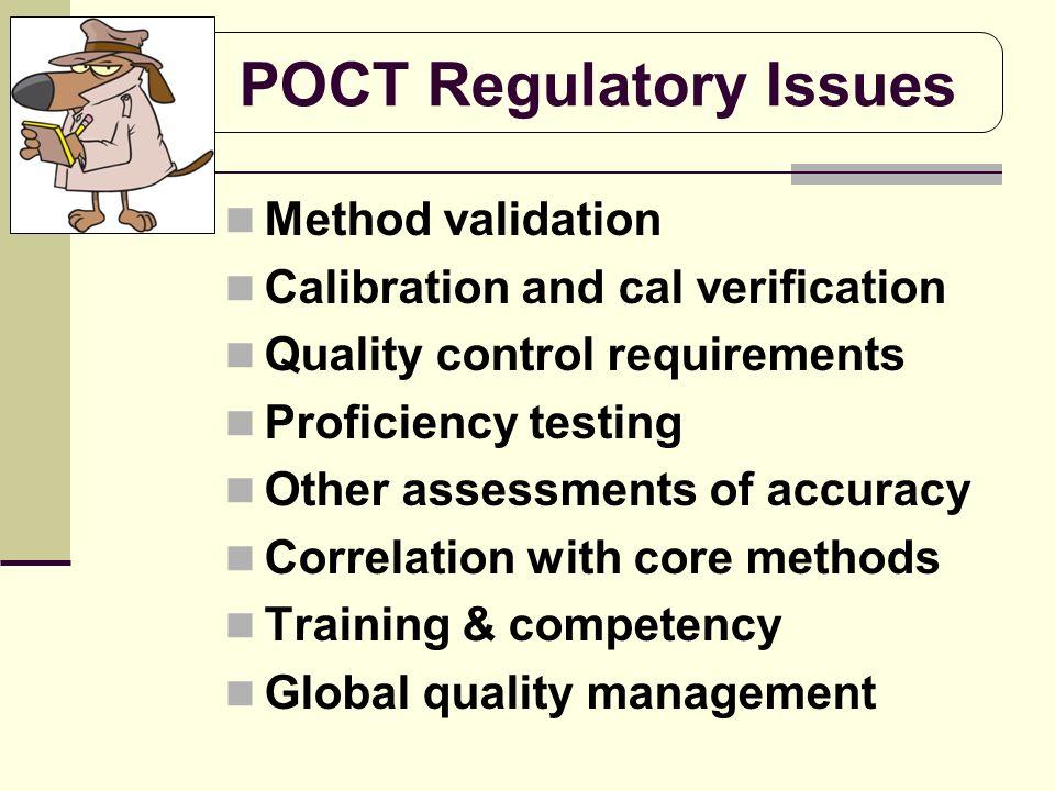POCT Regulatory Issues