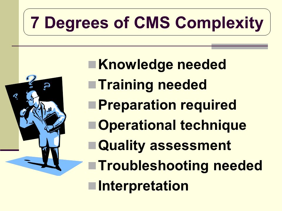 7 Degrees of CMS Complexity