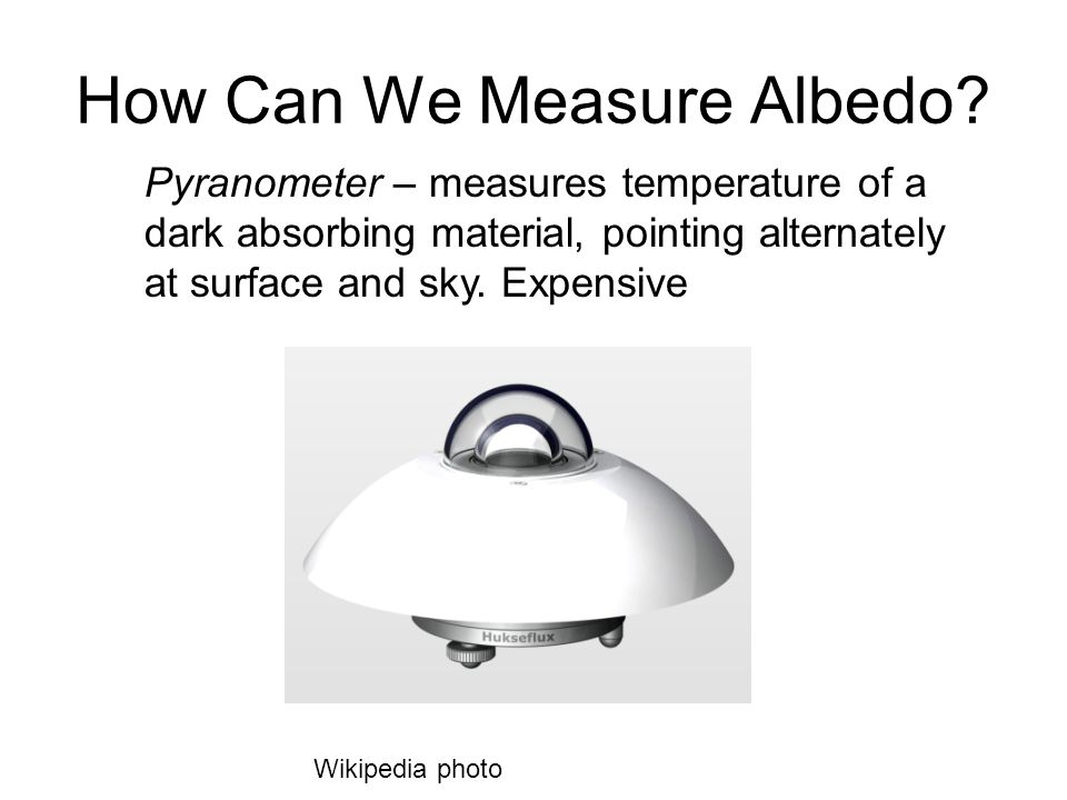 How Can We Measure Albedo