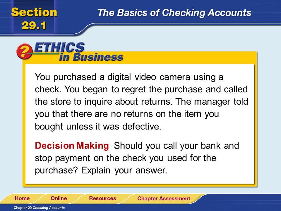 Order online checks