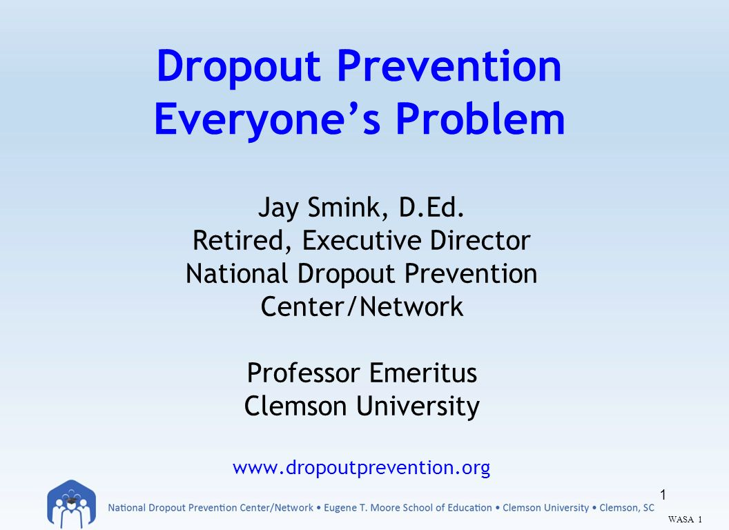 dropout prevention Promising programs and practices for dropout prevention report to the legislature dr terry bergeson state superintendent of public instruction december 2005.