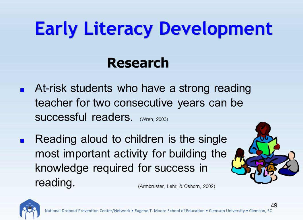 early childhood literacy research papers Most downloaded early childhood research quarterly articles the most downloaded articles from early childhood research quarterly in the last 90 days effects of the tennessee prekindergarten program on children's achievement and behavior through third grade.