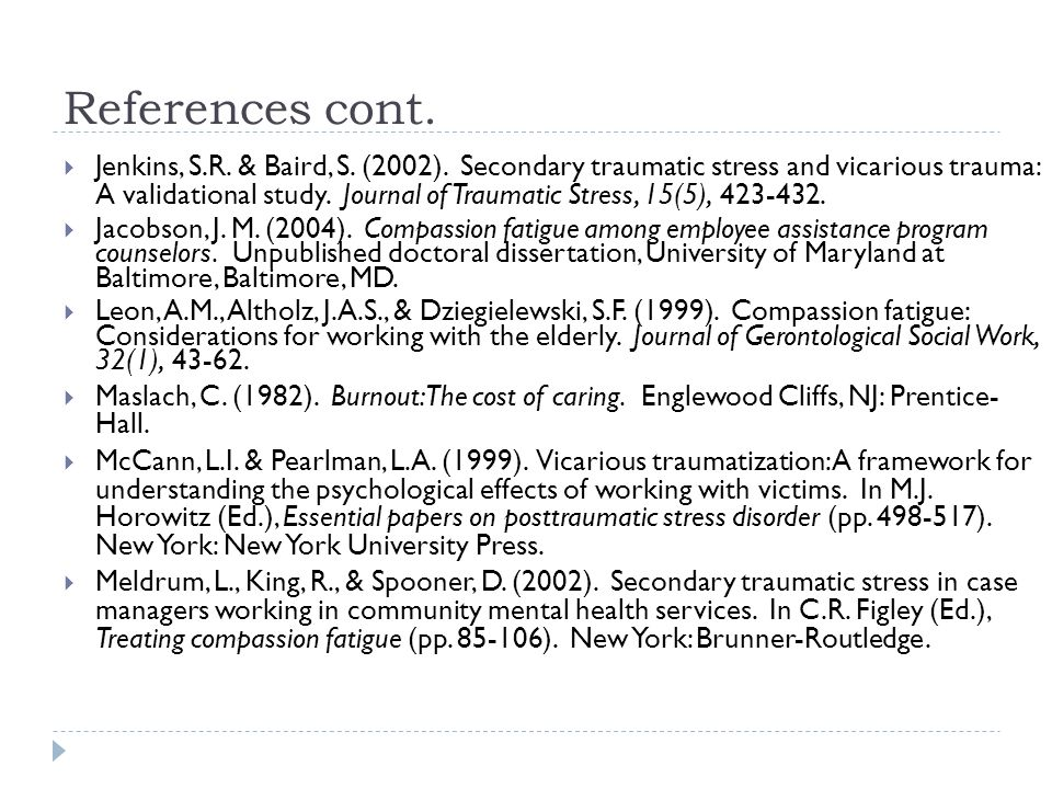 compassion fatigue traumatic stress disorders essay Concepts of compassion fatigue literature and language essay concepts of compassion fatigue (essay sample) the post traumatic stress disorder.