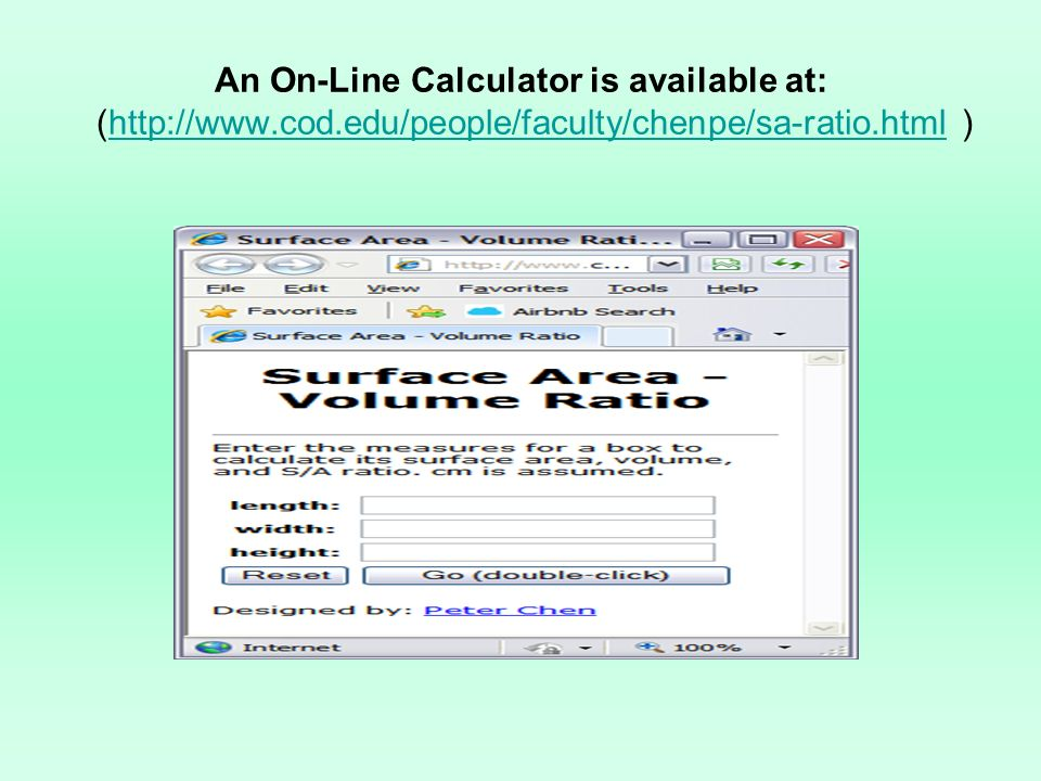 An On-Line Calculator is available at: (http://www. cod