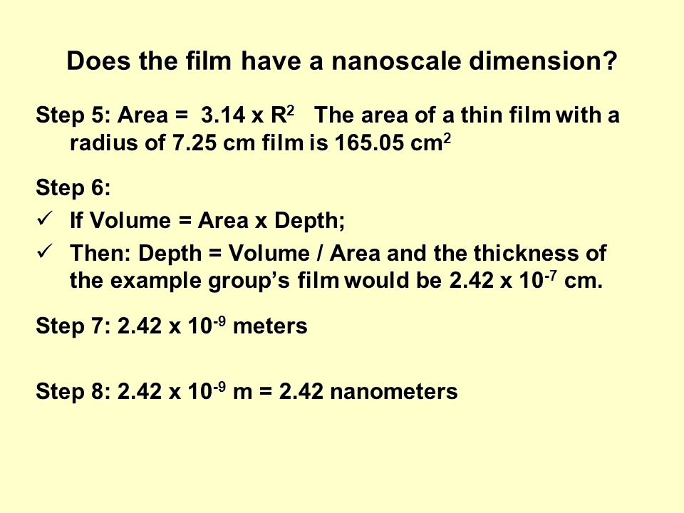 Does the film have a nanoscale dimension