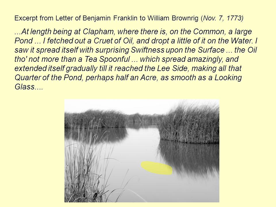 Excerpt from Letter of Benjamin Franklin to William Brownrig (Nov