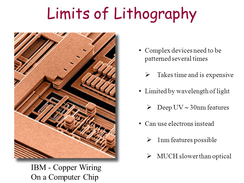 Limits of Lithography IBM - Copper Wiring On a Computer Chip