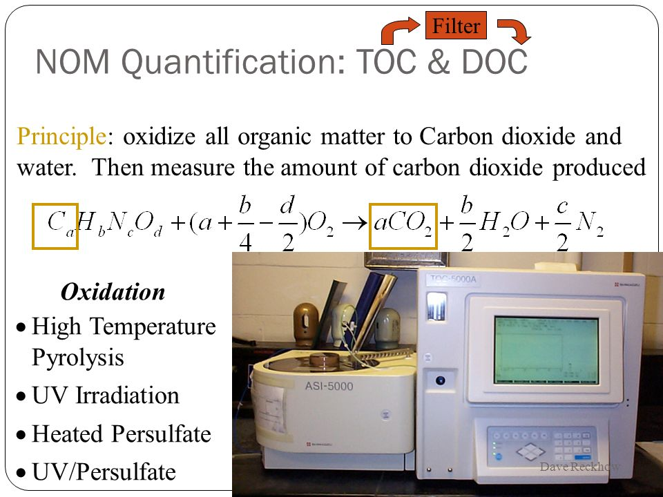 NOM Quantification: TOC & DOC