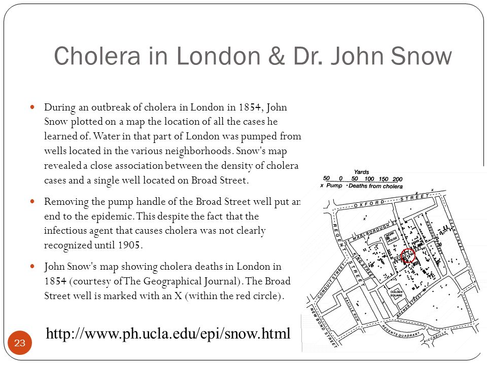 Cholera in London & Dr. John Snow
