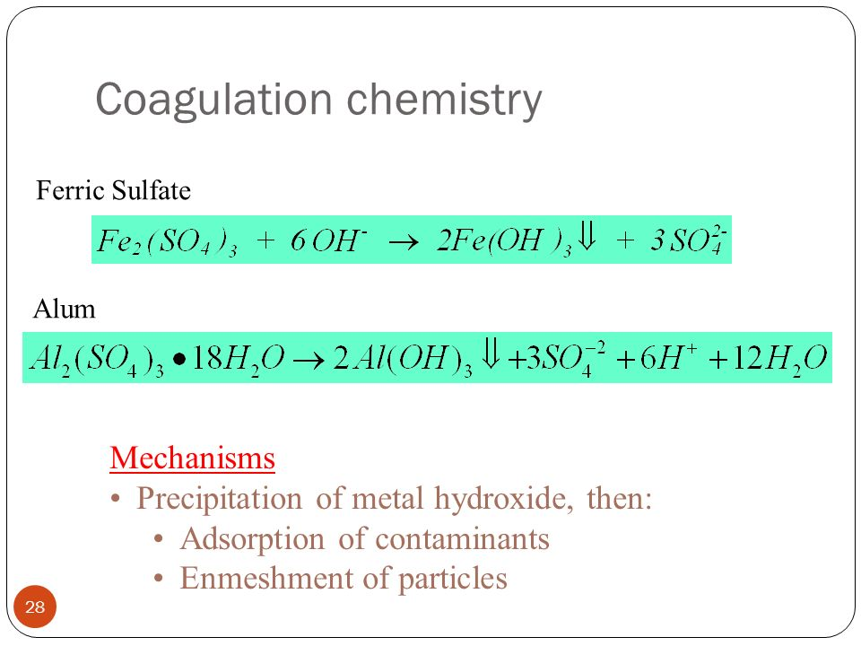 Coagulation chemistry