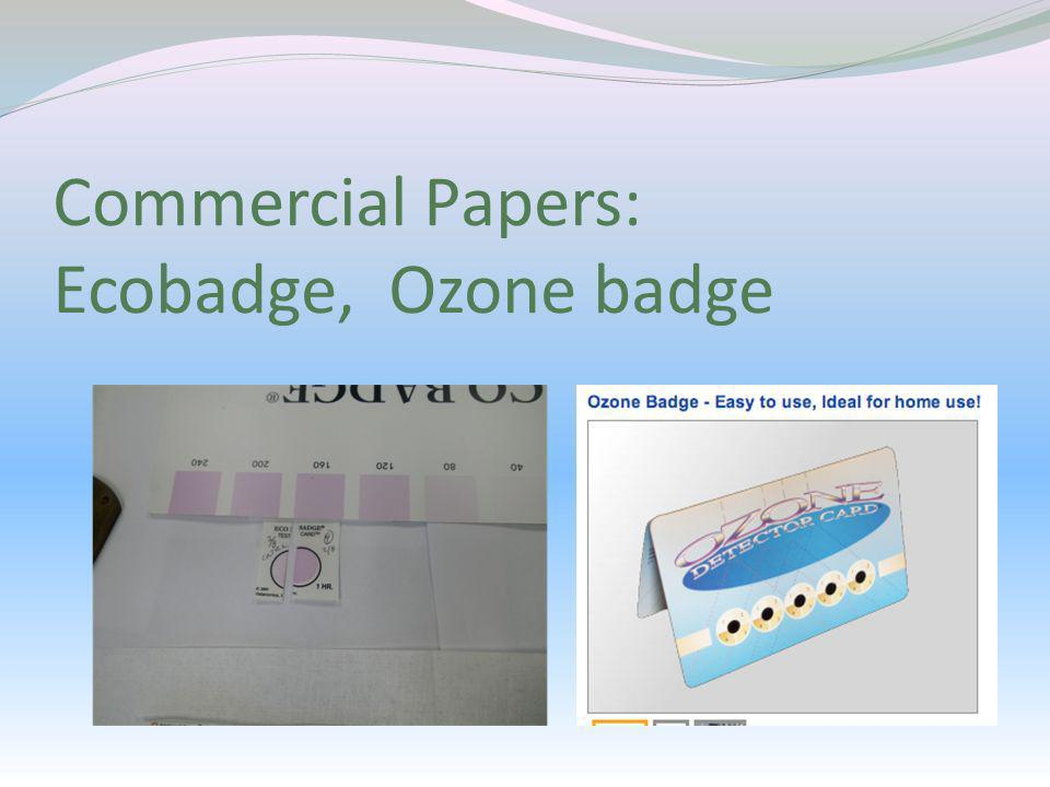 Commercial Papers: Ecobadge, Ozone badge