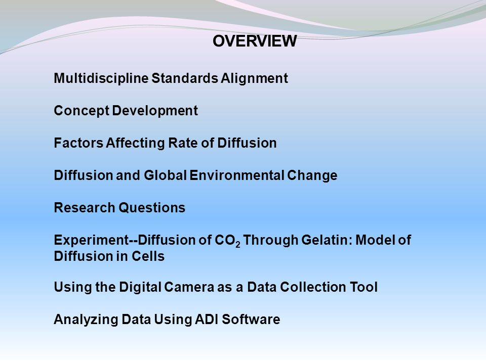 OVERVIEW Multidiscipline Standards Alignment Concept Development