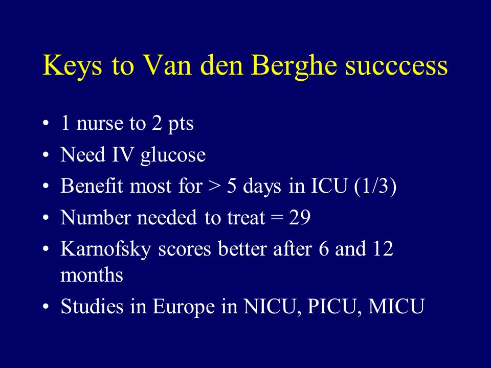 Keys to Van den Berghe succcess