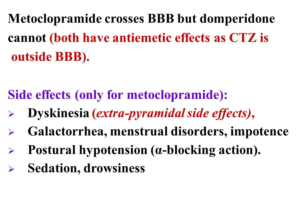 Metoclopramide Side Effects Ati