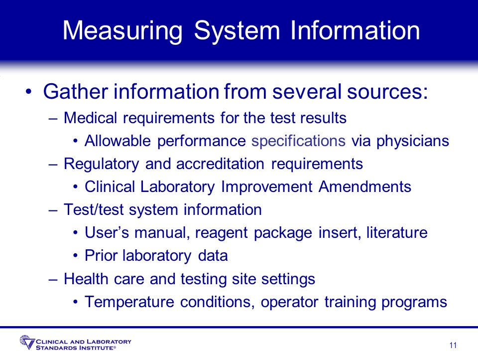 Measuring System Information