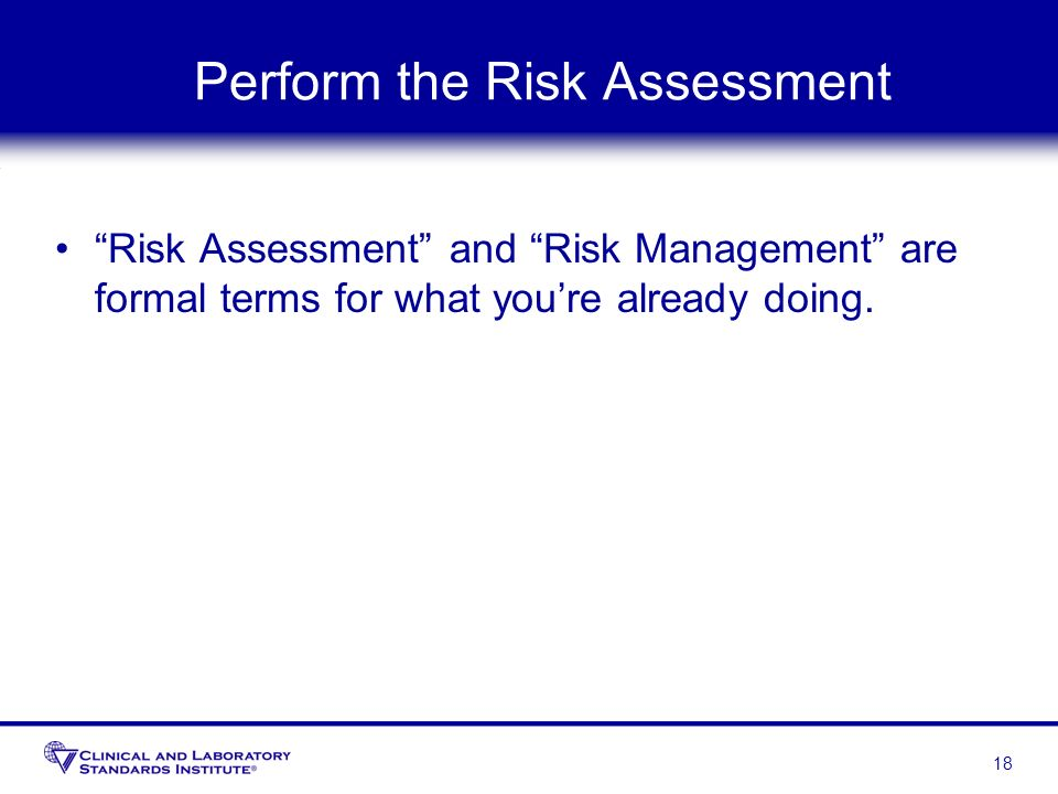 Perform the Risk Assessment