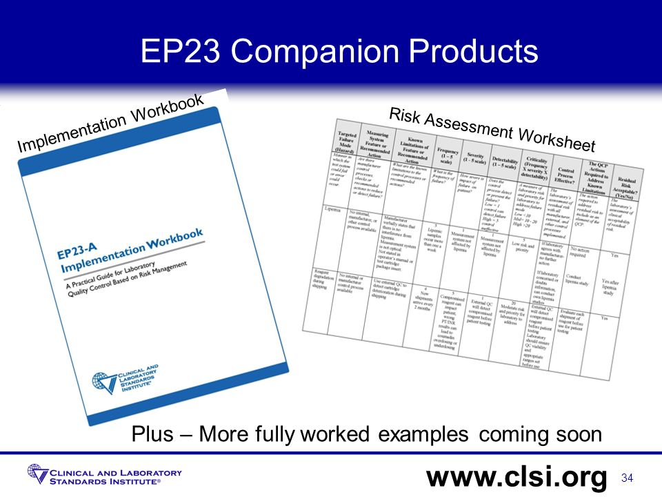EP23 Companion Products www.clsi.org