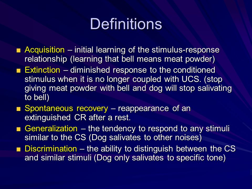 what is the relationship of stimuli and response