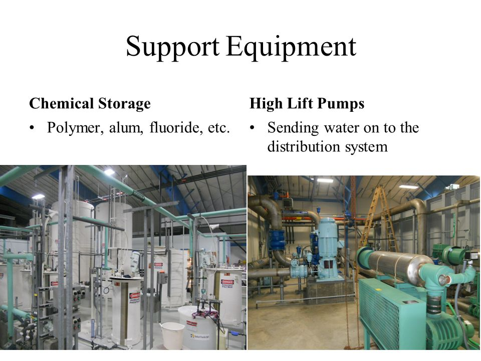 Support Equipment Chemical Storage High Lift Pumps