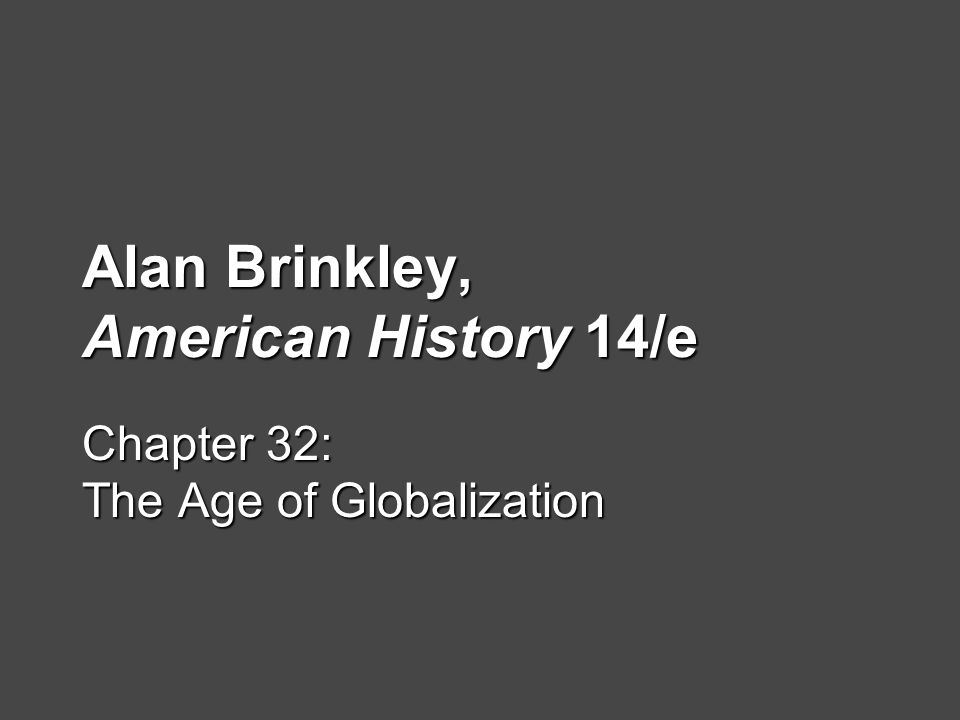 Alan Brinkley, American History 14/e