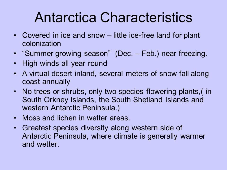 Antarctica Characteristics