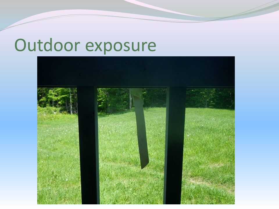 Outdoor exposure