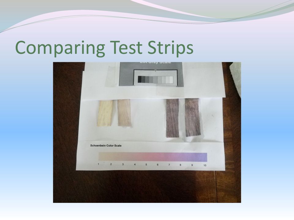 Comparing Test Strips