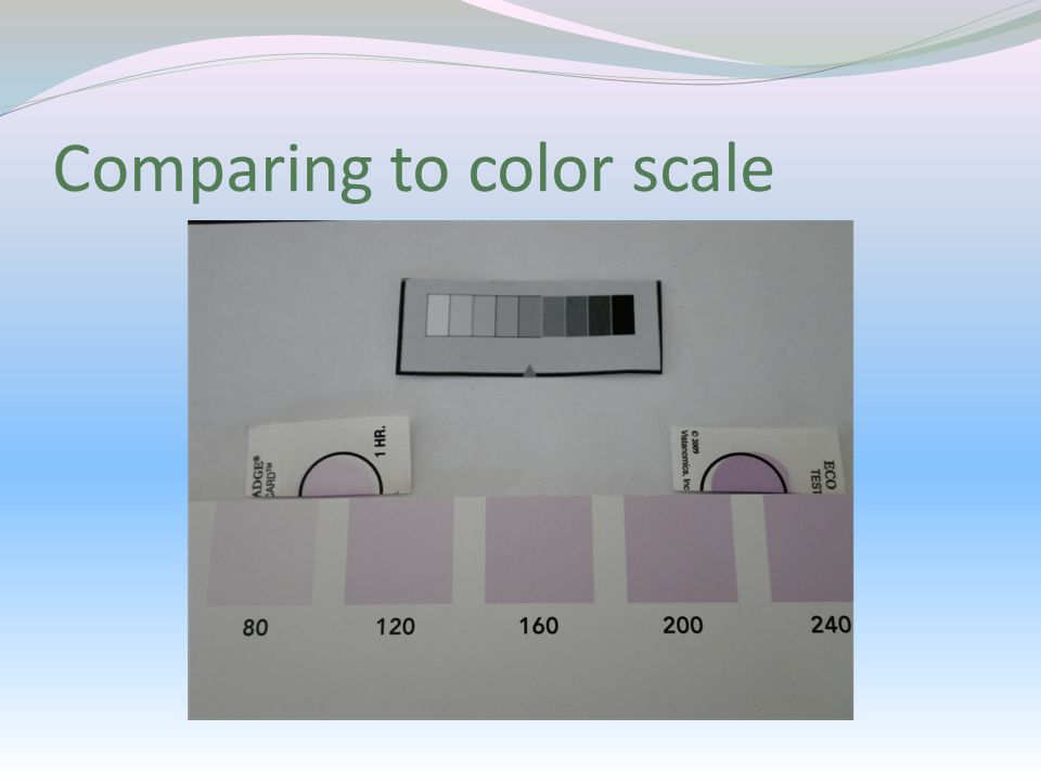 Comparing to color scale