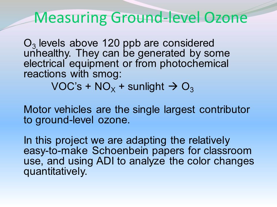 Measuring Ground-level Ozone